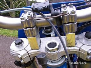Husaberg Bar Risers Lifted