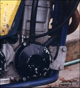 Ignition cover detail showing the two hoses