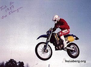 Special Thanks to Ove Ekengren! Here's Ove in his 1989 Husaberg, Signed, Frame #11.