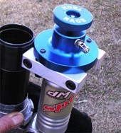 This is a really cool tool from Australia! You can see the large wheel for screwing down the allen screw and the schrader valve for charging it on the side.